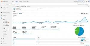 参考資料:グーグルアナリティクス アクセス解析ツール画面