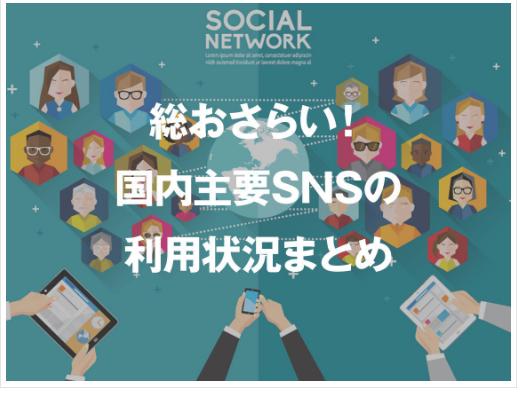 【人気SNSの利用状況と傾向】のまとめ記事の紹介します。